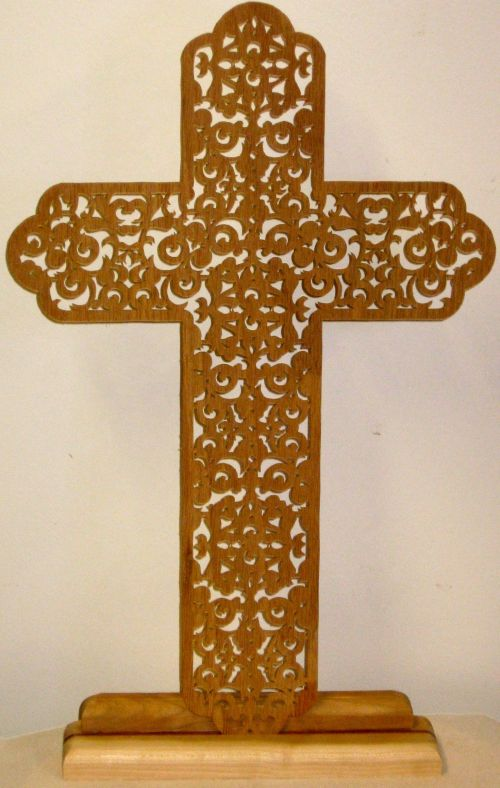 Stand for fretwork crose