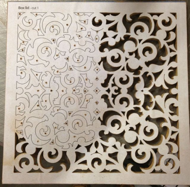 Fretwork box lid