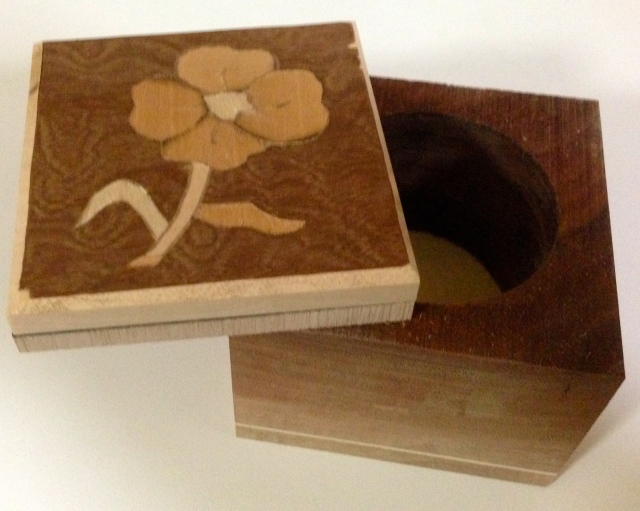 box with marquetry top