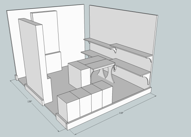 Concept for the remodeled office.