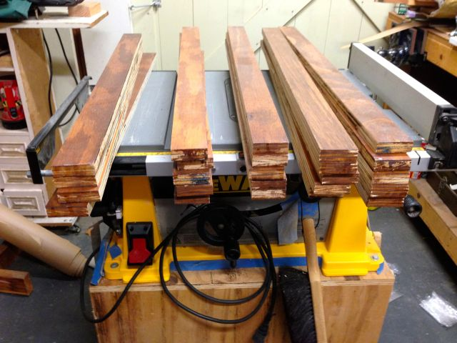 The table saw does a nice job of ripping the parts to width.