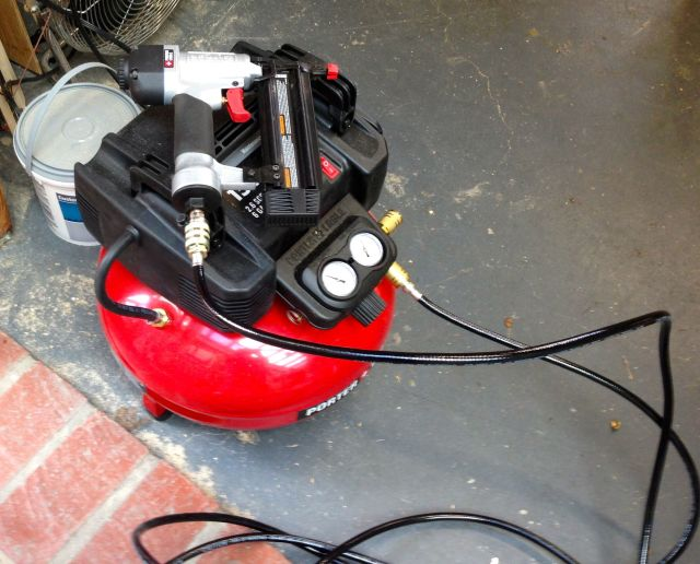 My new air compressor and brad nailer