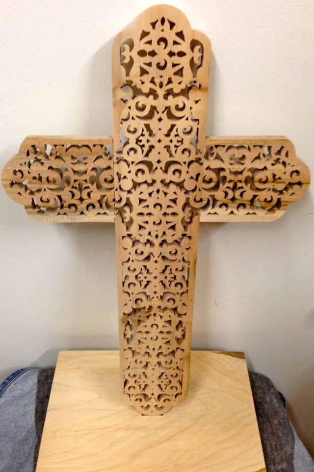Back of the cross with the base.