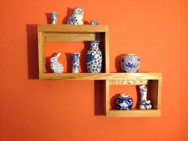 Blue and White Shelf