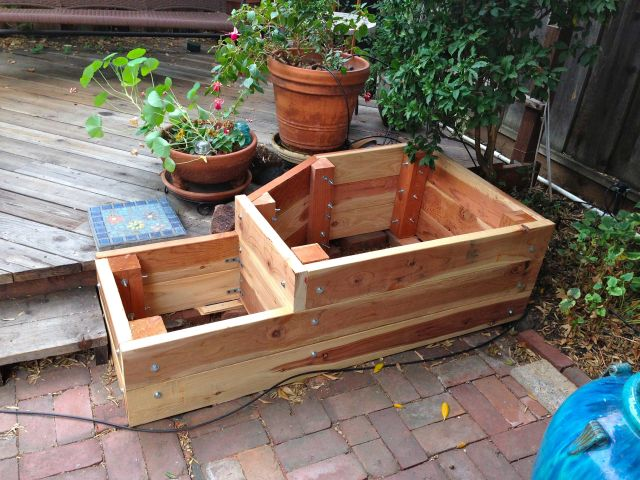 Finished planter box