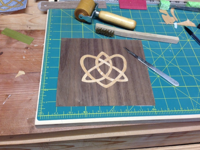 The Celtic knot is fully cut.