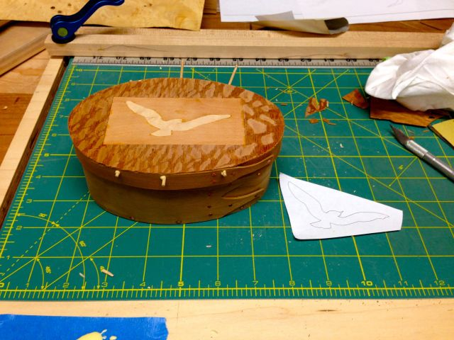 Marquetry on a Shaker Oval Box