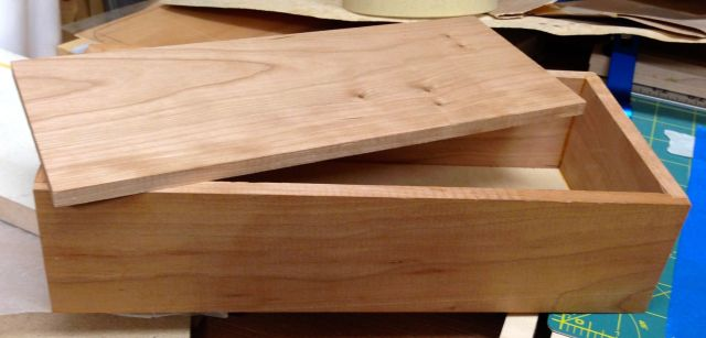 Basic cherry box that will get the parquetry.