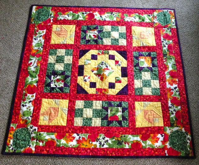 Heather made this quilt at a quilting class.