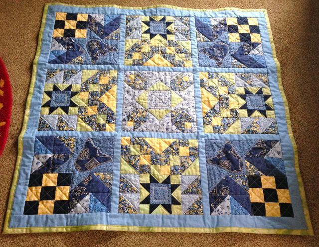 Quilt from a men's quilting class I took.