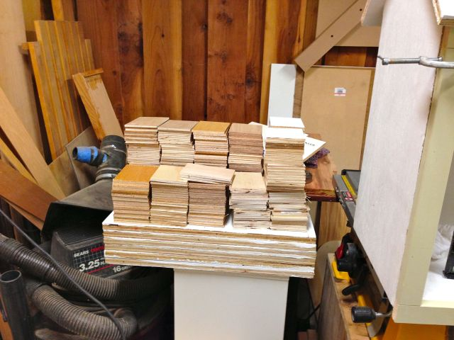 That's 320 little bits of plywood - 80 short of my goal.