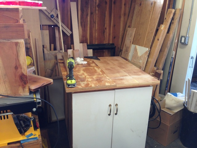 Finally! A clean work surface.