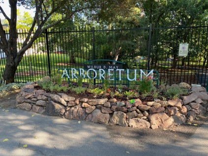 "The entrance to the arboretum. The big sign saying ""arboretum"" was a big help in locating the arboretum."