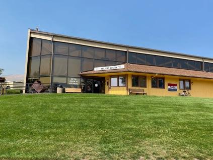 Nevada State Railroad Museum main entrance.