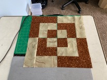 First four blocks of the bento box wall hanging