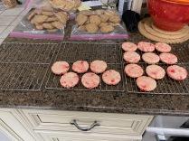 Cherry shortbread cookies.